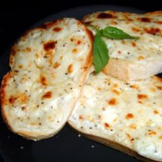 Creamy Cheese Bread - not a big Swiss fan so I might use gruyere or maybe even goat cheese...yummo!
