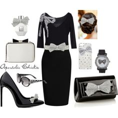 """""""Sparkling Bows"""" by apostolicchickie on Polyvore"""