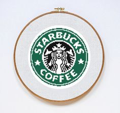 Starbucks Logo cross stitch pattern Instant by DazzlingDoilies