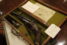 Holland & Holland .577 howdah pistol. A break-open gun that took a black powder cartridge.
