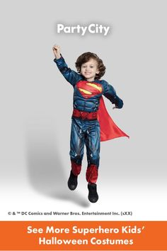 Become your favorite characters with Party City's collection of kids Halloween costumes. Superhero Kids, Halloween Costumes For Kids, Warner Bros, Dc Comics, Entertaining, Baseball Cards, Fun, Characters, City