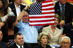GWB- a president who is proud of his country.