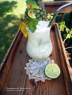 Hawaiian Mojito ~ Sumptuous Spoonfuls #tropical #cocktail #recipe #coconut #lime