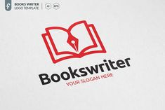 minimalist and modern logo. Typography Logo, Logo Branding, Branding Design, Branding Ideas, Writer Logo, Book Writer, Logo Inspiration, Buch Design, Modern Books