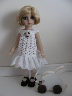 OOAK Hand Crocheted Dress for Patsy by by toyestinytreasures