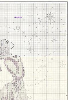 Stargazer by Nora Corbett, Mirabilia of Cross Stitch Fairy, Cross Stitch Angels, Just Cross Stitch, Cross Stitch Needles, Cross Stitching, Cross Stitch Embroidery, Hand Embroidery, Cross Stitch Designs, Cross Stitch Patterns