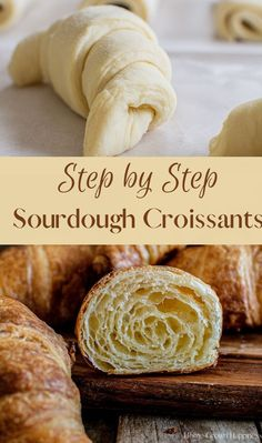 Jun 29, 2020 - Step by step easy sourdough croissants, perfect for sourdough enthusiasts. The end results are buttery, flaky pastries, sure to impress. Sourdough Starter Discard Recipe, Bread Starter, Sourdough Bread Recipes, Sour Dough Starter, Dough Starter Recipe, Pastry Dough Recipe, Starter Recipes, Homemade Croissants, Homemade Pastries