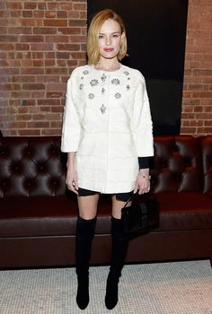 How Emma Stone and Kate Bosworth Wear Winter's Best Boots via @WhoWhatWear