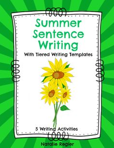 Great editable classroom materials @teachersherpa The Summer Sentence Writing With Tiered Writing Templates package contains the activities you need to support your students as they learn to write complete sentences. Beginning and struggling writers can practice their sentence writing with these engaging summer writing activities. Use the sentence writing activity during the summer so students can use their knowledge of summer to help them answer the questions.