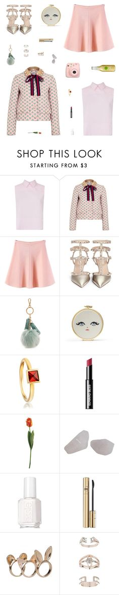 """""""Lovely Lea"""" by belenloperfido ❤ liked on Polyvore featuring Victoria, Victoria Beckham, Gucci, Fuji, WithChic, Valentino, Bungalow 20, Astley Clarke, Edward Bess, Essie and D&G"""