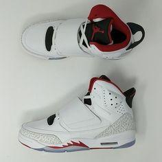 2953ec67eda870 Nike Kids Air Jordan Son Of Mars GS White Red 512246-112 Sz 6Y