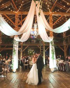 Wedding Reception Ideas, Barn Wedding Decorations, Wedding Ceremony, Gown Wedding, Wedding Cakes, Wedding Rings, Ceremony Decorations, Wedding Dresses, Wedding Draping