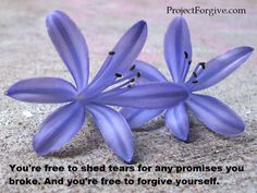 You're free to forgive yourself.  Project: Forgive