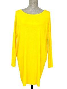 Walk This Way Oversized Tunic Dress - Yellow - $40.00 | Daily Chic Tops | International Shipping