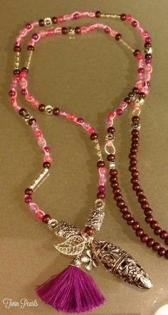 Check out this item in my Etsy shop https://www.etsy.com/listing/255923754/long-boho-pretty-in-pinks-agate-beads