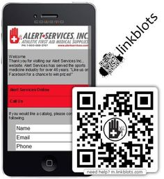 Alert Services using linkblots QR codes and mobile web pages in the sports medicine field! http://www.linkblots.com/im/32evjuaa7w88