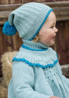 girl knit dress and hat