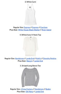 The Essential Capsule Wardrobe - Spring 2018 Collection - shopping links