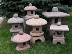Black Cat Pottery - Hypertufa lanterns