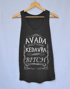 Harry Potter Magic Spell Shirt Avada kedavra Shirts Tank Top Vintage Unisex Size S M L by iNakedapparel on Etsy https://www.etsy.com/listing/183680879/harry-potter-magic-spell-shirt-avada