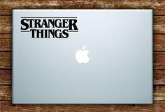 Stranger Things Logo Laptop Apple Macbook Quote Wall Decal Sticker Art Vinyl Teen TV Shows Netflix Eleven - orange