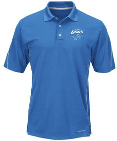 Detroit Lions Sport Blue Majestic Field Classic 8 NFL Synthetic Polo $54.95