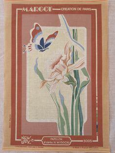 Needlepoint Kits, Needlepoint Canvases, Purple Iris, Star Art, My Canvas, Floral Fabric, Wool Yarn, American Artists, Daffodils