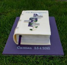 cremefarbenes Buch Schminktäschen lila Kommunion 2850274661