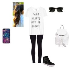 """""""School Outfit! ☺"""" by wwedivas462 ❤ liked on Polyvore featuring Zoe Karssen, Rebecca Minkoff and Ray-Ban"""