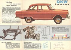 DKW Junior...my mother learned to drive in a red DKW just like this...only had a white roof