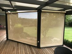 Privacy, windbreak + shade with Ziptrak, mesh Ziptrak Blinds, Mesh, Shades, Outdoor, Furniture, Home Decor, Outdoors, Shutters, Sunglasses