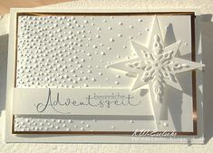 KW-Eselsohr: special Advent time - Herbst Winter - Damen un Mann Schonheit Christmas Cards 2018, Stampin Up Christmas, Christmas Star, Winter Christmas, Stampin Up Weihnachten, Advent Season, Star Cards, Christmas Drawing, Winter Cards