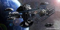 Scifi Artwork by Shaun Williams, via Behance