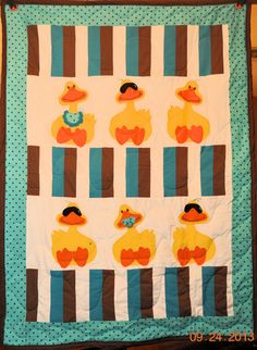 Applique Ducky Baby Quilt