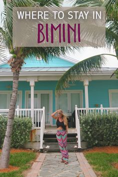 Where to Stay in Bimini: There are only a few accommodations on the islands– so choose wisely based on the activities you'd most like to take part in! Bahamas Vacation, Need A Vacation, Vacation Memories, Vacation Ideas, Places To Travel, Places To Go, Bahamas Island, Resort Villa, Beautiful Hotels