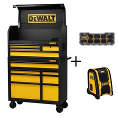 DEWALT 40 in. 11-Drawer Tool Chest and Rolling Tool Cabinet Set, Black with Bonus Radio and Storage Organizer-DWMT78074D - The Home Depot