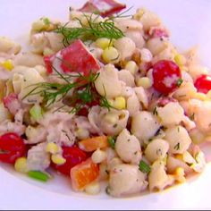 """Ina Garten's """"lobster and shell salad"""". I can't wait to use fresh vegetables/herbs from my garden for this"""