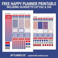July 4th planner stickers