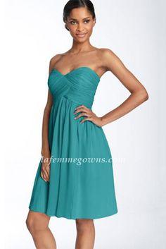 Green Discount UK Strapless Short Bridesmaid Dresses Hot Sale