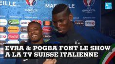 #EURO2016 : Les joueurs de la Juventus, Patrice Evra & Paul Labile Pogba, font le show à la TV Suisse italienne après la victoire des Bleus face à l'Allemagne ⚽