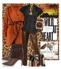 """""""Wild at heart"""" by summer-marin ❤ liked on Polyvore featuring Boohoo, Design Art, Burberry, MaxMara, NOVICA, Pierre Hardy, Jane Basch and Frédérique Constant"""