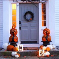 Halloween Pumpkin Lighted Topiaries...DIY