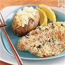 SOOOO DEEEE-LICIOUS!!!! Baked Dijon Tilapia with Crumb Crust