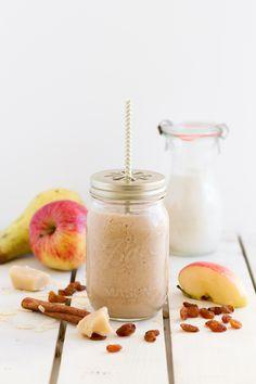 Smoothie Apfel, Birne, Marzipan, Zimt I Smoothie Apple, Pear, Marzipan, Cinnamon I haseimglueck.de (Breakfast Smoothie)
