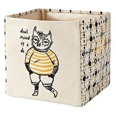 Forest Etiquette Owl Cube Bin - Land of Nod  Modern Nursery