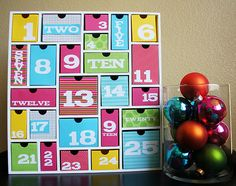 Love the colors in this advent calendar.