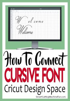 Simple Ways to Connect Cursive Font in Cricut Design Space Learn How to Connect Cursive Font in Cricut Design Space TODAY! Simple tips and tricks for connecting cursive letters in Cricut Design Space.Connect Connect may refer to: Cricut Air 2, Cricut Help, Cricut Vinyl, Vinyl Decals, Cricut Ideas, Cricut Tutorials, Cursive Letters, Cursive Fonts, Tips And Tricks