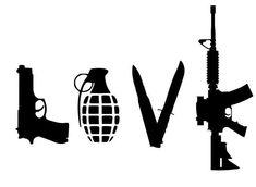 from etsy love guns grenade knife bullet love guns grenade knife ...