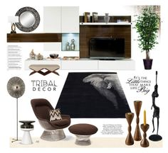 """Untitled #998"" by louise-stuart ❤ liked on Polyvore featuring interior, interiors, interior design, home, home decor, interior decorating, Uttermost, Knoll, Bandhini Homewear Design and Richard Ginori"
