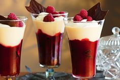 Try our choc lovers twist on trifle. Bought brownies are the ideal base for gourmet jelly, custard and cream.